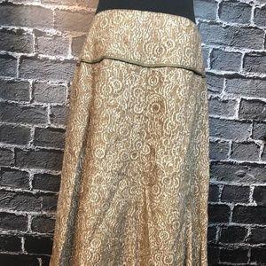 Sundance Catalog Skirt Sz 6 Khaki Ivory Linen